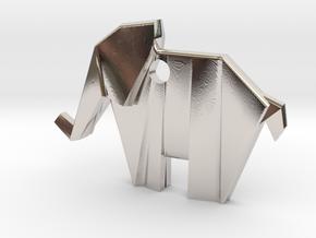 Origami elephant emphasis in Platinum