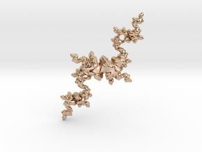 Fractal Unicorn in 14k Rose Gold Plated Brass