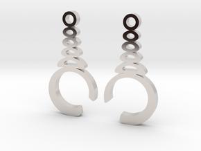 """""""Understatement"""" Earrings  in Rhodium Plated Brass"""