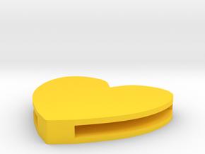 Rebirth Harley Sliding Heart (5 size options) in Yellow Processed Versatile Plastic: Medium
