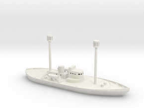 1/285 Scale Light Ship WAL-605 in White Natural Versatile Plastic
