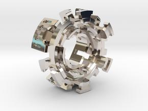 "HILT MT30 Connector Holder 1"" METAL in Rhodium Plated Brass"