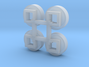 1/64 Circular Bin Roof Vent (4) in Smooth Fine Detail Plastic