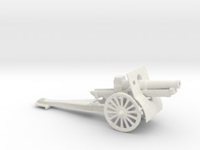 155mmgun Short model 1917 1/72 ww1 & ww2 Artillery in White Natural Versatile Plastic