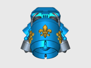 Fleur-De-Lis : Gryphus Jetpack (PM) in Smooth Fine Detail Plastic: Small