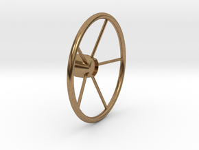 "Modern Wheel, 2.25"" OD in Natural Brass"