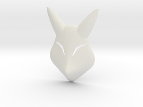 Keaton Fox Mask in White Natural Versatile Plastic