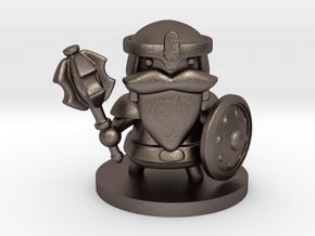Dwarf Fighter in Polished Bronzed Silver Steel