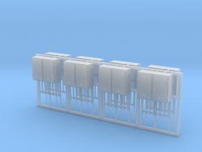 SJ Signalverteiler 2Türig 8erSet - TT 1:120 in Smooth Fine Detail Plastic