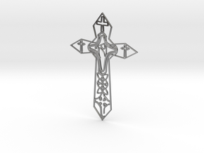 Personalised Enneper Cross Artwork in Fine Detail Polished Silver