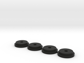 PB Mini Mustang Spring Retainer v1 in Black Natural Versatile Plastic