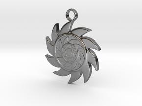 Sun V2 in Fine Detail Polished Silver