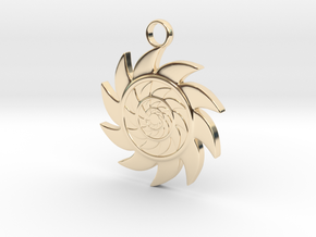 Sun V2 in 14k Gold Plated Brass