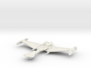 Klingon D31 Comtil Class  BattleShip in White Natural Versatile Plastic