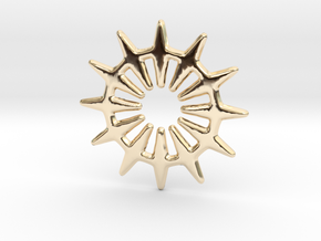 12 pointed star geometric base shape in 14k Gold Plated Brass