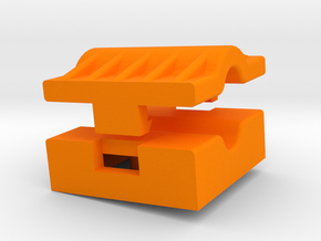 Building Block Wire Clamp in Orange Processed Versatile Plastic