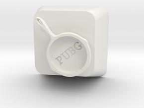 PUBG Frying Pan Keycap in White Natural Versatile Plastic
