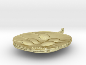 # 1. honesty seed pendant in 18k Gold Plated Brass