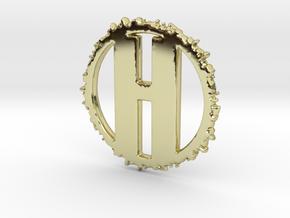 HenryTek Logo Pendant in 18k Gold