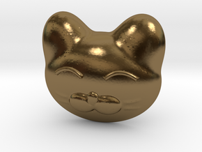 Cat Pendant  in Polished Bronze