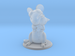 Mouse with Stuffed Cat - Mechanic version in Smooth Fine Detail Plastic