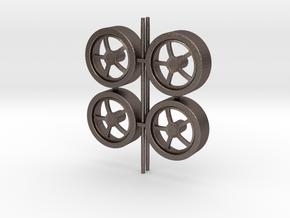 Wheels 5-spoke in Polished Bronzed Silver Steel