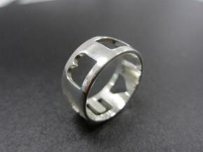 I Heart U ring (women) in Polished Bronze Steel