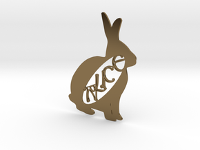 Personalised Animal Artwork - Rabbit in Polished Bronze