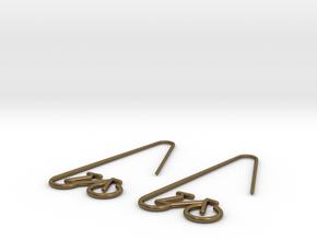 Amsterdam Bike Earrings in Natural Bronze