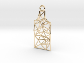 Amsterdam Canal House Wireframe Pendant in 14k Gold Plated Brass
