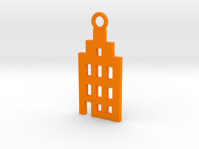 Amsterdam Canal House Basic Pendant in Orange Processed Versatile Plastic