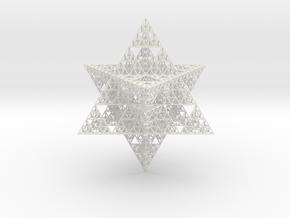 Sierpinski Merkaba II 16 cm (downloadable) in White Natural Versatile Plastic