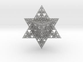 Sierpinski Merkaba II 16 cm (downloadable) in Aluminum