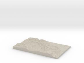 Model of Rimrock Lake in Natural Sandstone