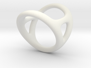 Ring for Diane d13 d15-4 L18 in White Natural Versatile Plastic