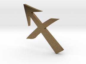 Sagittarius (The Archer) Symbol in Natural Bronze