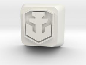 World of Warships Logo keycap (less detail) in White Natural Versatile Plastic