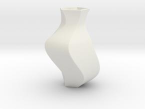Deluxe Vase in White Natural Versatile Plastic