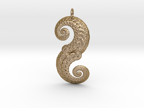 Double Spiral in Polished Gold Steel