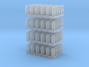 1:160 Milk Cans V2 -120ea in Smooth Fine Detail Plastic