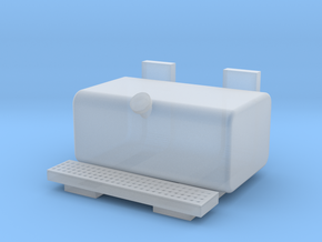 Square fuel tank with long step in Smooth Fine Detail Plastic