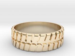 Tire ring 17.3mm custom in 14k Gold Plated Brass