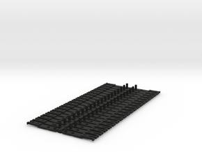 OO NEM Type 4 Coach Drawbar X40 in Black Natural Versatile Plastic