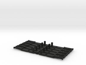 OO NEM Type 5 Coach Drawbar X10 in Black Strong & Flexible