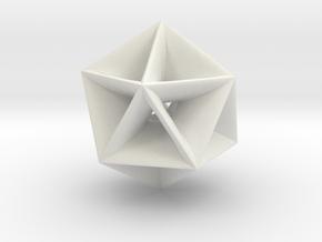 Trigonometric Pendant III in White Natural Versatile Plastic
