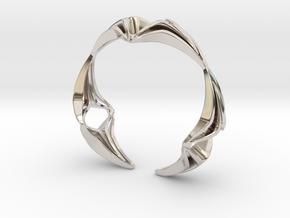 Youniq Edge Bracelet  in Rhodium Plated Brass: Extra Small