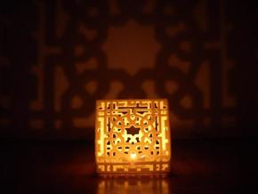 Arabesquebus Tealight in Sandstone