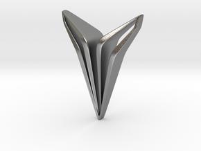 YOUNIQ Edge, Soft Pendant in Natural Silver