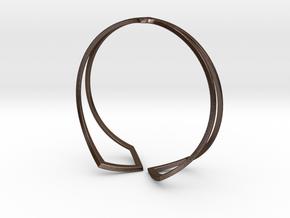 HIDDEN HEART Bracelet. Pure Elegance  in Polished Bronze Steel: Medium