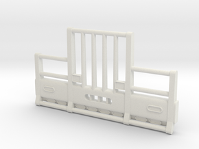 1/16th scale HERD Bumper for Kenworth W900 in White Natural Versatile Plastic